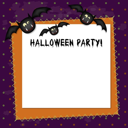 Halloween Party Invitation  Funny Halloween Party Invitation with spooky elements  Vector