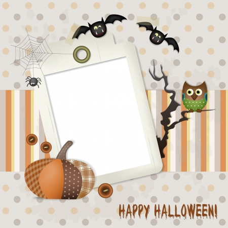 Happy Halloween Scrapbook  A funny Halloween background with copy space for your text and photo  Vector
