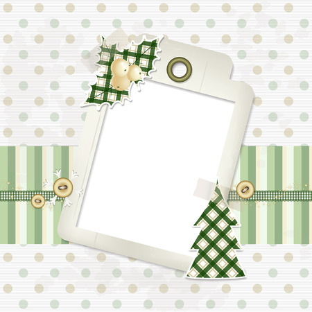 Christmas Scrapbooking Background   Vector