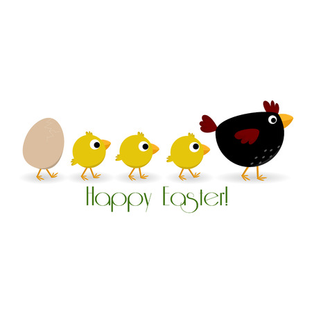A cute Easter background symbolizing a friendly family