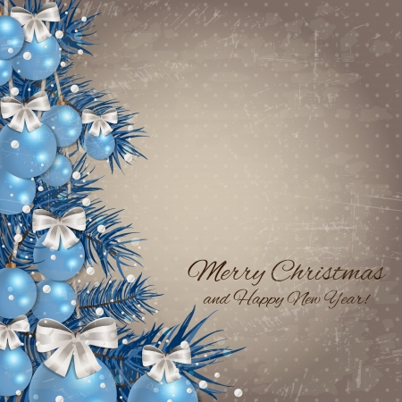 christmas menu: Merry Christmas Background - A retro background with copy space for text  Illustration