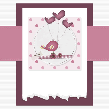 animalitos tiernos: Pink Scrapbook con copyspace de texto