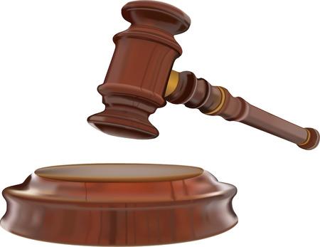 Gerechtigkeit Gavel Illustration