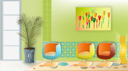 Wamo Living Room Vector