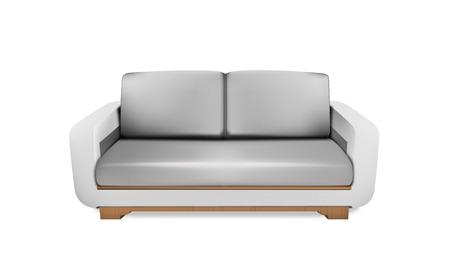 MiÄ™kkie szary obszar sofa