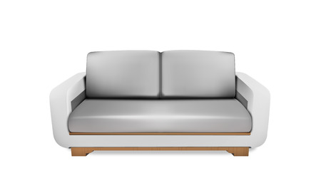 Soft gray space sofa Vector