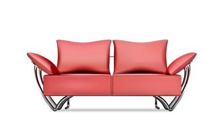 Czerwony sofa