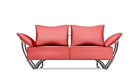 Red sofa Stock Vector - 9100656