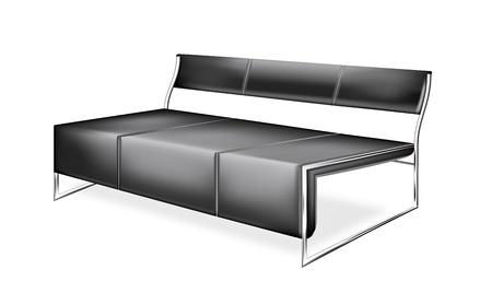 New fancy modern sofa living room  Stock Vector - 9177450