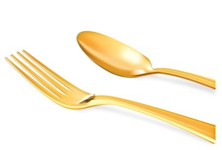 黄金のスプーン  イラスト・ベクター素材