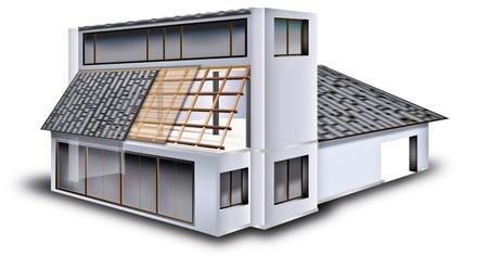 StrucStyle house w nowoczesnym stylu. Do prostej strukturze. Ilustracja