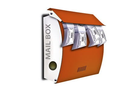 Red Mail Box to make a substantial active communications and finance. Vector