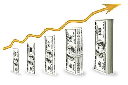 Inwestycji finansowych do maksymalizacji zysku. Ilustracja