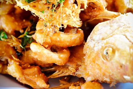Fish fried herbs Stock Photo - 10268103