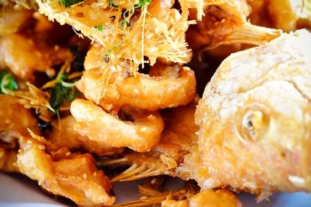 Fish fried herbs Stock Photo - 10268103