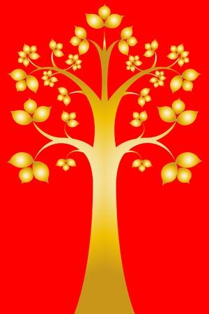 sri: Sri maha bodhi tree ( Thai art ) Illustration