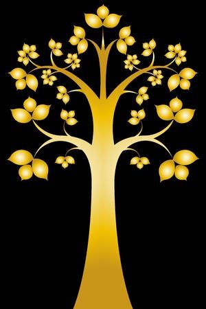 Sri árvore Bodhi maha (art Thai)