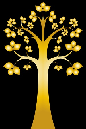 siam: Sri maha bodhi tree ( Thai art ) Illustration