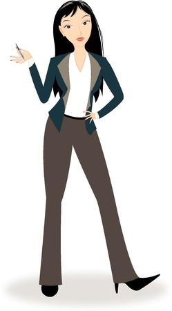 Bela mulher de negócios Ilustração
