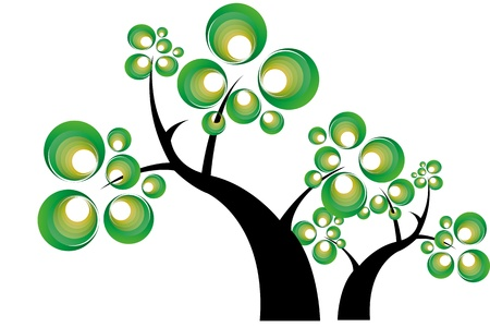 Abstract small trees Stock Vector - 10398094