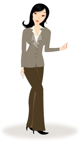 Young woman in business Illustration