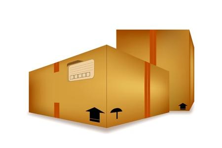 Post packaging box