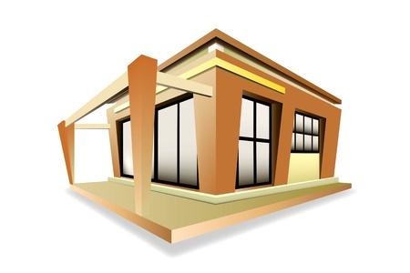 modern huis: Thuis moderne stijl Stock Illustratie