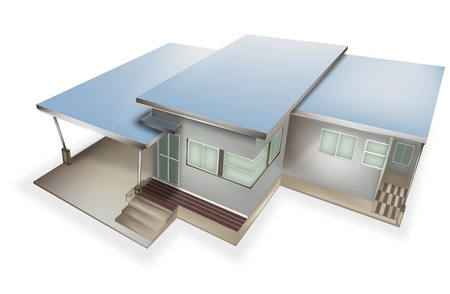 A small house style Vector