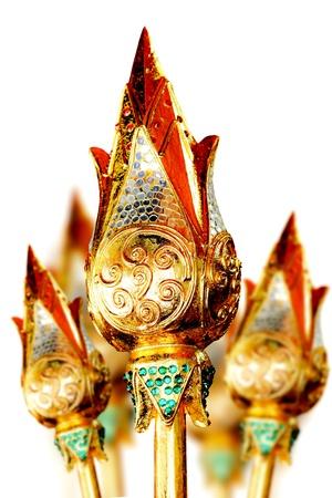 Lotus-Blume in Gold (Art abseits der Gold 100%) geschnitzt