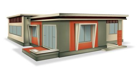 Równomierny dom nowoczesny styl Ilustracja