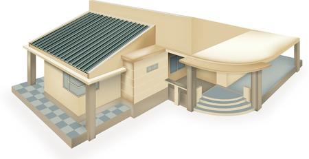Moderne Gartenhaus Illustration