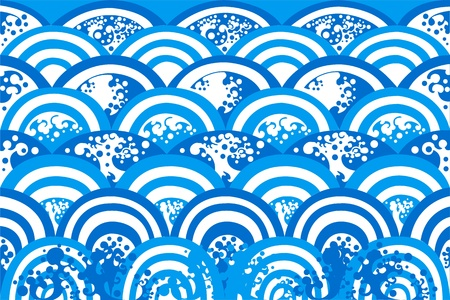 Blue wave abstract background Stock Vector - 11101665
