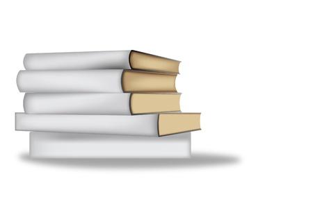 白い背景の上の本します。  イラスト・ベクター素材