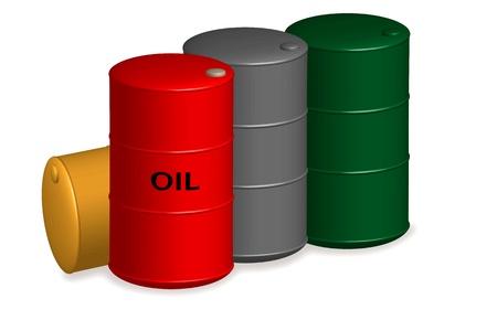 toxic barrels: Dep�sito de aceite Vectores