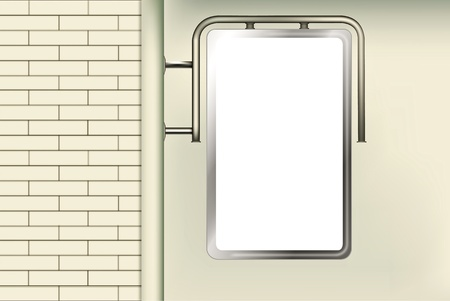 adboard: Blank advertising billboard Illustration