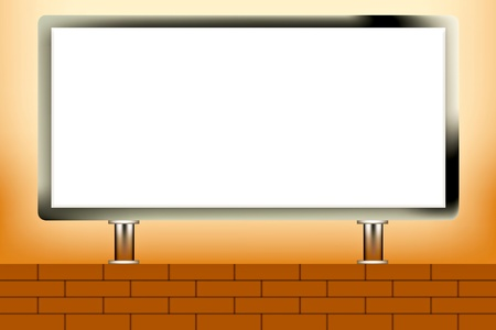 White board and wall of brick Stock Vector - 11170629