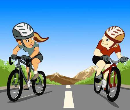 Andar de bicicleta para a saúde e para o ambiente