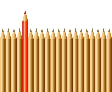 Bleistifte ein Rotstift