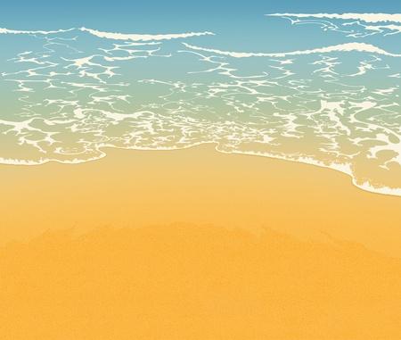 ビーチと砂  イラスト・ベクター素材