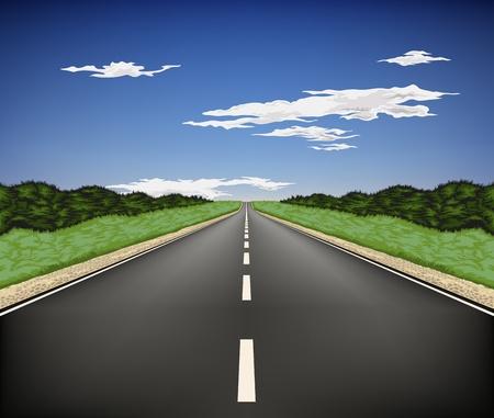 国の高速道路  イラスト・ベクター素材