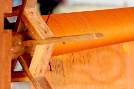 hand woven: Tessuti a mano rotolo di seta