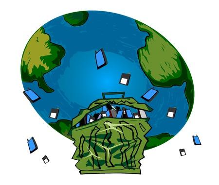 Umwelt alten Handy und Akku