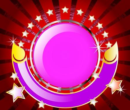 estrellas moradas: C�rculo rodeado de estrellas color p�rpura Vectores