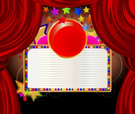 flashy: Red curtains and a forum for the text font