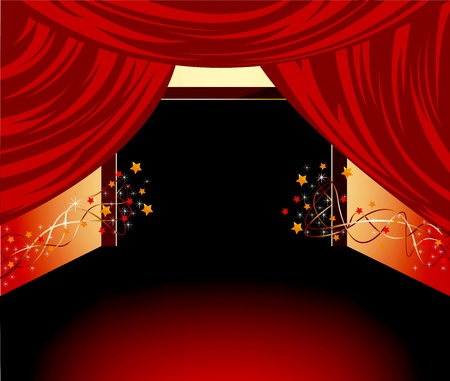 flashy: red floor background Illustration