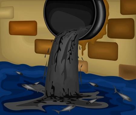 Poluição do ambiente background.Water da indústria