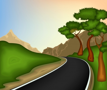 street view: Road and nature background