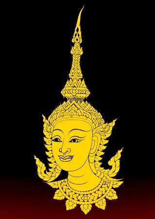 Angels in Buddhist art.Thai motifs