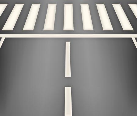 Crosswalk across the street in the city Illustration