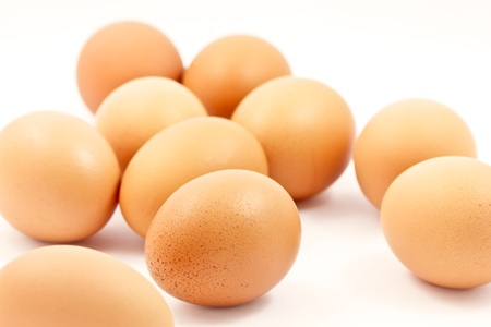 Brown eggs isolated on white background Stock Photo - 14761905